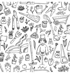 Aseamless patternwith hand-drawn doodles about a vector