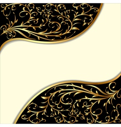 Background with gold ornament vector