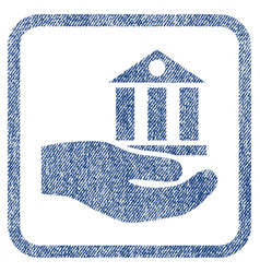 Bank service fabric textured icon vector