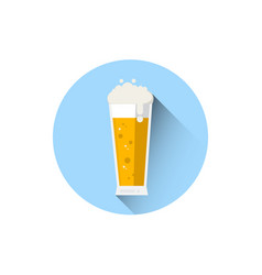 beer glass icon oktoberfest festival holiday vector image