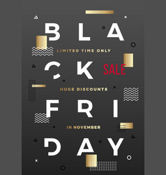 Black friday swiss style typography poster vector