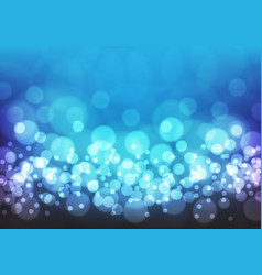 bokeh blue nightabstract on blue vector image
