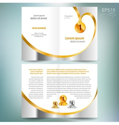 booklet catalog brochure award winner element gold vector image