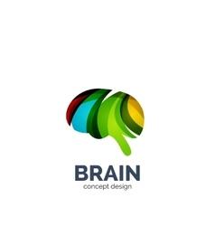brain logo vector image