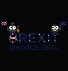 brexit divorce deal vector image