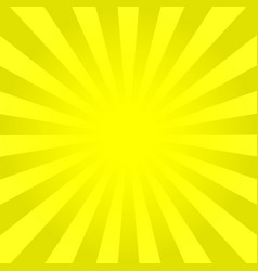 Bright yellow rays background vector