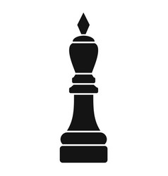 chess bishop icon simple style vector image