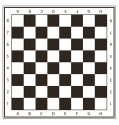 Chess field in black and white colors vector