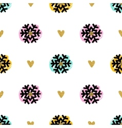 Christmas seamless pattern hand-drawn marker vector image vector image