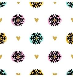 Christmas seamless pattern hand-drawn marker vector