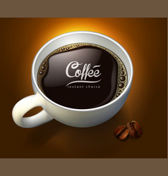 coffee advertising design high detailed realistic vector image