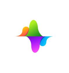 colorful sound wave logo vector image