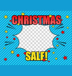 comic christmas sale light concept vector image