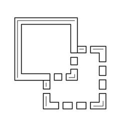 copy image line icon vector image