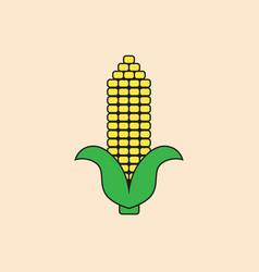 Corn cob icon autumn harvest concept vector