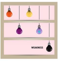 Creative light bulb Idea concept banner vector image