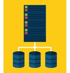 Data center web hosting graphic vector