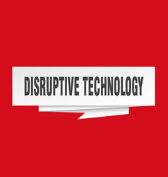 Disruptive technology vector