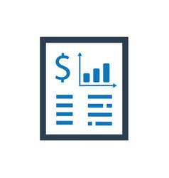 Fiinancial statement icon vector