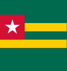 Flag in colors of togo image vector