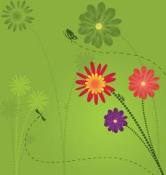 floral garden design vector image