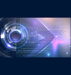 futuristic background cyber eye theme vector image