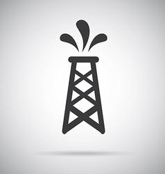 Gasoline design over gray background vector