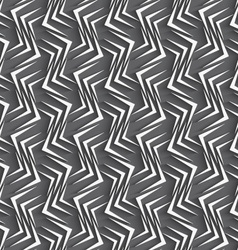 Geometrical ornament with embossed wavy shapes vector