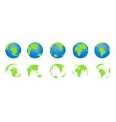 globe earth with map world icons planets vector image
