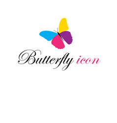 graphics icon beautiful multicolored butterfly vector image