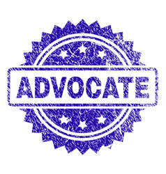 Grunge advocate stamp seal vector