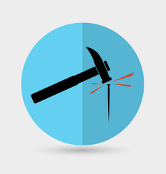 hammer a nail icon vector image
