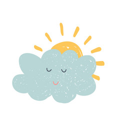 hand drawn cloud vector image