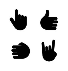 hands simple related icons vector image