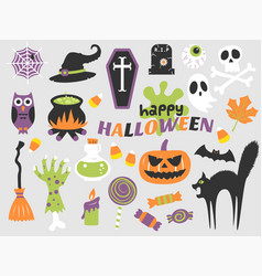 Happy halloween flat design vector