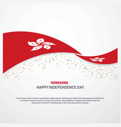 Hongkong happy independence day background vector