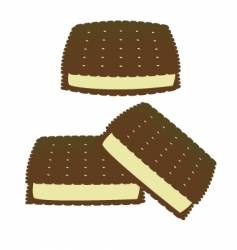 ice cream sandwich vector image