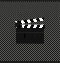 Icon open flapper for film at round dark vector