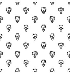 idea bulb pattern seamless vector image
