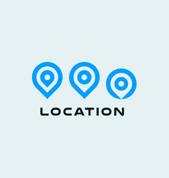 location icon set round pin symbols place vector image