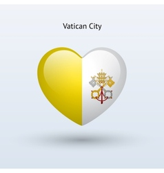 Love Vatican City symbol Heart flag icon vector