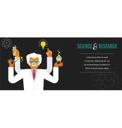 Mad Scientist - Research Bio Technology vector image