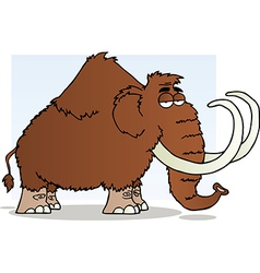 Mammoth Cartoon Mascot Character vector image