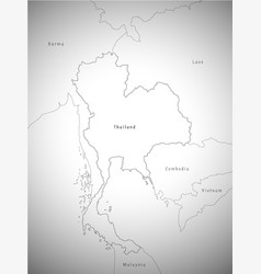 Map of thailand administrative vector