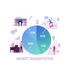 market segmentation concept people vector image