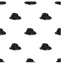 Metal ore icon in black style isolated on white vector