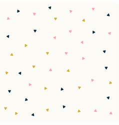 Minimal triangle pattern design in pastel colors vector