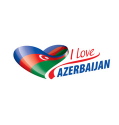 National flag azerbaijan vector
