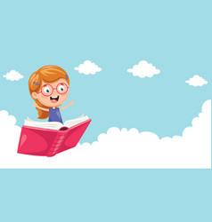 of school children flying vector image