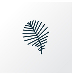 palm leaf icon line symbol premium quality vector image